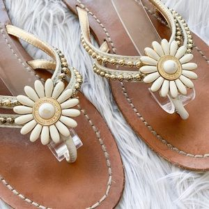 Coach Shoes - 👠BOGO🆓Coach Genuine Leather Beaded Daisy Sandals